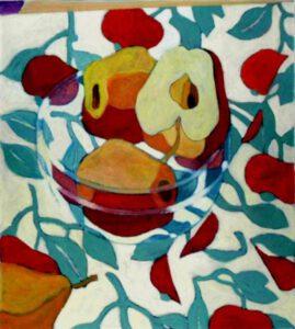 Apfelschale, Öl, 100 x 120 cm