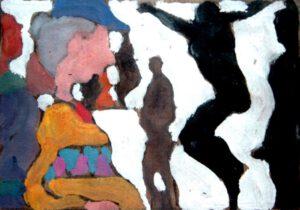 Ausstellung, Acryl, 30 x 20 cm