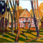 Bild eines Bauernhauses von Max Holst: Malerei für Öl-und Acryl-Bilder, Gemälde und Porträts, Grafikdesign und handgefertigte Objekte aus der Lüneburger Heide.