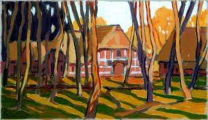 Bauernhaus, Acryl, 120 x 90 cm, Auftragsarbeit