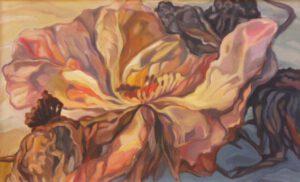 Blüte, Öl, 91 x 56 cm