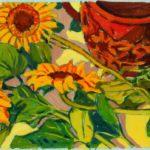 Stillleben mit Blumen neben einem Krug von Max Holst: Malerei für Öl-und Acryl-Bilder, Gemälde und Porträts, Grafikdesign und handgefertigte Objekte aus der Lüneburger Heide.