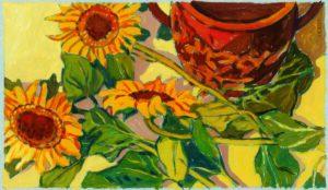 Blumen, Öl, 120 x 90 cm, Auftragsarbeit