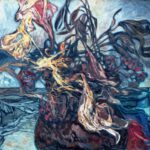 Bild eines Blumenkrugs von Max Holst: Malerei für Öl-und Acryl-Bilder, Gemälde und Porträts, Grafikdesign und handgefertigte Objekte aus der Lüneburger Heide.