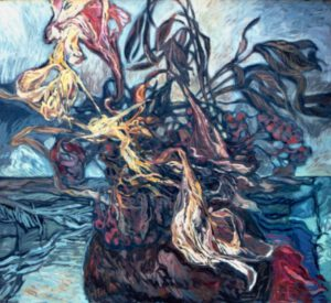 Blumenkrug, Öl, 100 x 110 cm