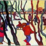 Brack im Moor, Acryl, 120 x 90 cm, Auftragsarbeit