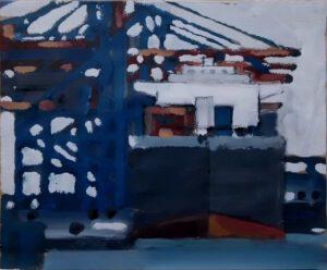 Containerkai, Acryl, 50 x 40 cm