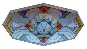 Deckenlampe, 300 x 140 cm, Auftragsarbeit