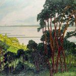 Elbe, Acryl, 200 x 90 cm, Auftragsarbeit