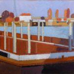 Bild der Ellerholzschleuse von Max Holst: Malerei für Öl-und Acryl-Bilder, Gemälde und Porträts, Grafikdesign und handgefertigte Objekte aus der Lüneburger Heide.
