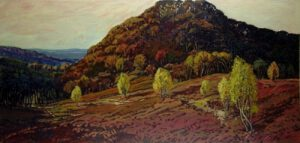 Falkenberg, Acryl, 200 x 90 cm, Auftragsarbeit