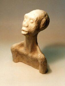 Figur, Ton, 17 cm hoch