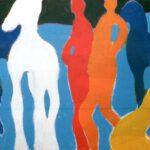 Bild mit abstrakten bunten Figuren von Max Holst: Malerei für Öl-und Acryl-Bilder, Gemälde und Porträts, Grafikdesign und handgefertigte Objekte aus der Lüneburger Heide.