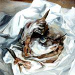 Stilllebnen mit Fischköpfen von Max Holst: Malerei für Öl-und Acryl-Bilder, Gemälde und Porträts, Grafikdesign und handgefertigte Objekte aus der Lüneburger Heide.