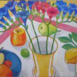 Stilleben mit Blumen in einer Vase von Max Holst: Malerei für Öl-und Acryl-Bilder, Gemälde und Porträts, Grafikdesign und handgefertigte Objekte aus der Lüneburger Heide.