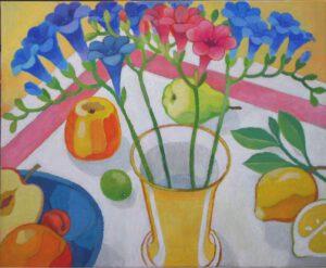 Fresien, Acryl, 60 x 51 cm, Auftragsarbeit