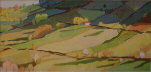 Frühling, Acryl, 190 x 90 cm, Auftragsarbeit