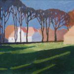 Bild mit einem Gehöft´ von Max Holst: Malerei für Öl-und Acryl-Bilder, Gemälde und Porträts, Grafikdesign und handgefertigte Objekte aus der Lüneburger Heide.