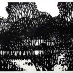 Holzschnitt eines Gehöfts von Max Holst: Malerei für Öl-und Acryl-Bilder, Gemälde und Porträts, Grafikdesign und handgefertigte Objekte aus der Lüneburger Heide.