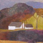 Bild mit einem Gehöft in einer Landschaft von Max Holst: Malerei für Öl-und Acryl-Bilder, Gemälde und Porträts, Grafikdesign und handgefertigte Objekte aus der Lüneburger Heide.