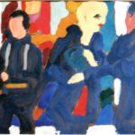 Gespräch, Acryl, 30 x 20 cm
