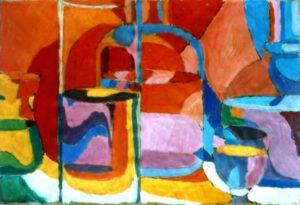 Gläser, Acryl, 60 x 40 cm