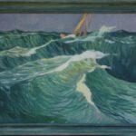 Bild mit einem Segelboot auf dem Meer von Max Holst: Malerei für Öl-und Acryl-Bilder, Gemälde und Porträts, Grafikdesign und handgefertigte Objekte aus der Lüneburger Heide.