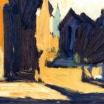 Bild mit mehreren Häusern. von Max Holst: Malerei für Öl-und Acryl-Bilder, Gemälde und Porträts, Grafikdesign und handgefertigte Objekte aus der Lüneburger Heide.