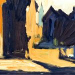 Häuser, Acryl, 30 x 20 cm