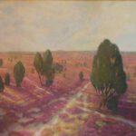 Heide, Öl, 118 x 90 cm