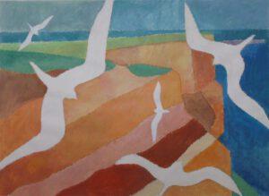 Helgoland, Acryl, 51 x 70 cm