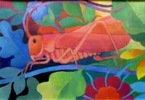 Heupferd, Acryl, 100 x 70 cm