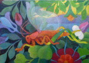 Heupferd, Acryl, 100 x 71 cm