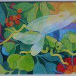 Bild mit einem Heupferd von Max Holst: Malerei für Öl-und Acryl-Bilder, Gemälde und Porträts, Grafikdesign und handgefertigte Objekte aus der Lüneburger Heide.