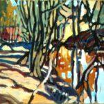 Bild der Holmer Mühle von Max Holst: Malerei für Öl-und Acryl-Bilder, Gemälde und Porträts, Grafikdesign und handgefertigte Objekte aus der Lüneburger Heide.