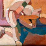 Bild mit Holzfiguren. von Max Holst: Malerei für Öl-und Acryl-Bilder, Gemälde und Porträts, Grafikdesign und handgefertigte Objekte aus der Lüneburger Heide.