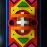 Bild eines Holzreliefs. von Max Holst: Malerei für Öl-und Acryl-Bilder, Gemälde und Porträts, Grafikdesign und handgefertigte Objekte aus der Lüneburger Heide.
