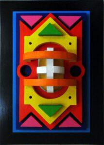 Holzrelief, 50 x 35 cm
