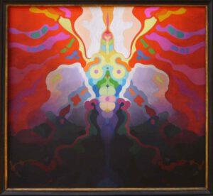Ikarus, Öl, 87 x 80 cm