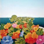 Insel, Öl, 50 x 50 cm, Auftragsarbeit