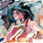 Bild mit einem Kopf von Max Holst: Malerei für Öl-und Acryl-Bilder, Gemälde und Porträts, Grafikdesign und handgefertigte Objekte aus der Lüneburger Heide.