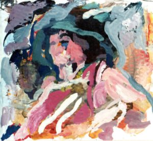Kopf, Acryl, 20 x 20 cm