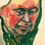 Porträtbild mit einem Kopf von Max Holst: Malerei für Öl-und Acryl-Bilder, Gemälde und Porträts, Grafikdesign und handgefertigte Objekte aus der Lüneburger Heide.