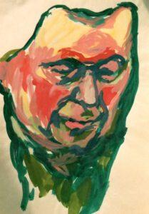 Kopf, Acryl, 30 x 40 cm