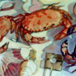 Bild mit Krebsen. von Max Holst: Malerei für Öl-und Acryl-Bilder, Gemälde und Porträts, Grafikdesign und handgefertigte Objekte aus der Lüneburger Heide.