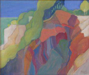 Kreidefelsen, Öl, 77 x 65 cm