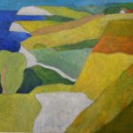 Limfjord, Öl, 54 x 64 cm