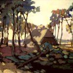 Das Bild von Max Holst zeigt Lüneburger Heide, Öl, 60 x 45 cm