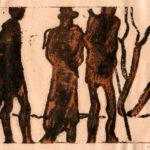 Bild von Max Holst auf dem abstrakte Figuren zu sehen sind. Max Holst: Malerei für Öl-und Acryl-Bilder, Gemälde und Porträts, Grafikdesign und handgefertigte Objekte aus der Lüneburger Heide