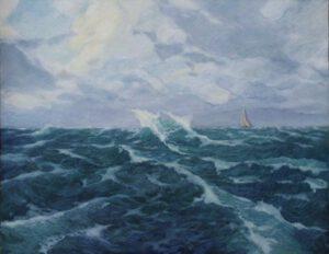 Meer, Öl, 100 x 77 cm